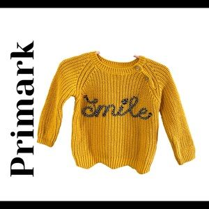 Primark knit baby girl sweater with front detail